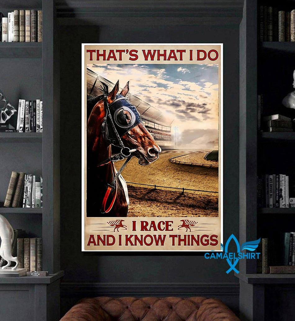 Horse racing that's what I race and I know things poster art