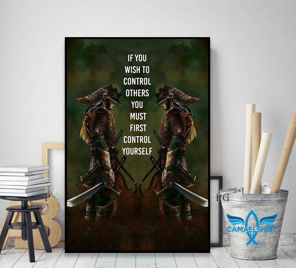 If you wish to control others you must first control yourself vertical poster decor art