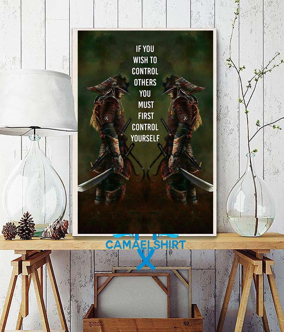 If you wish to control others you must first control yourself vertical poster wall decor