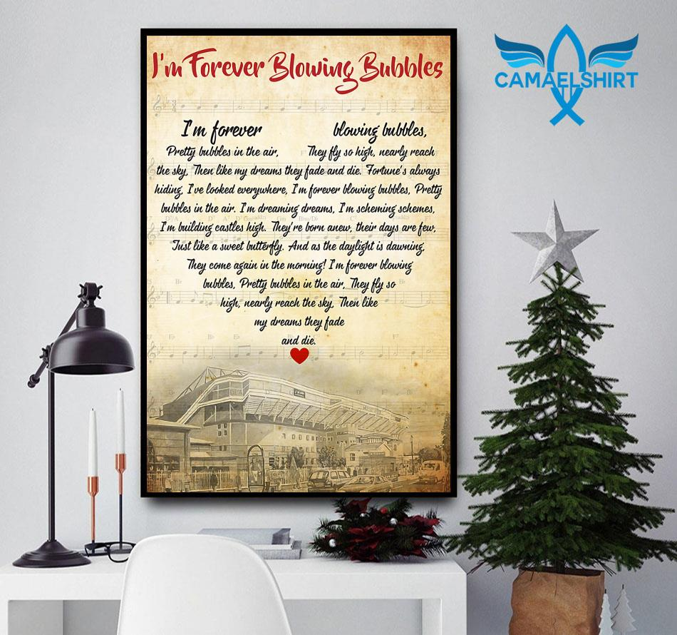 I'm forever blowing bubbles lyric poster canvas