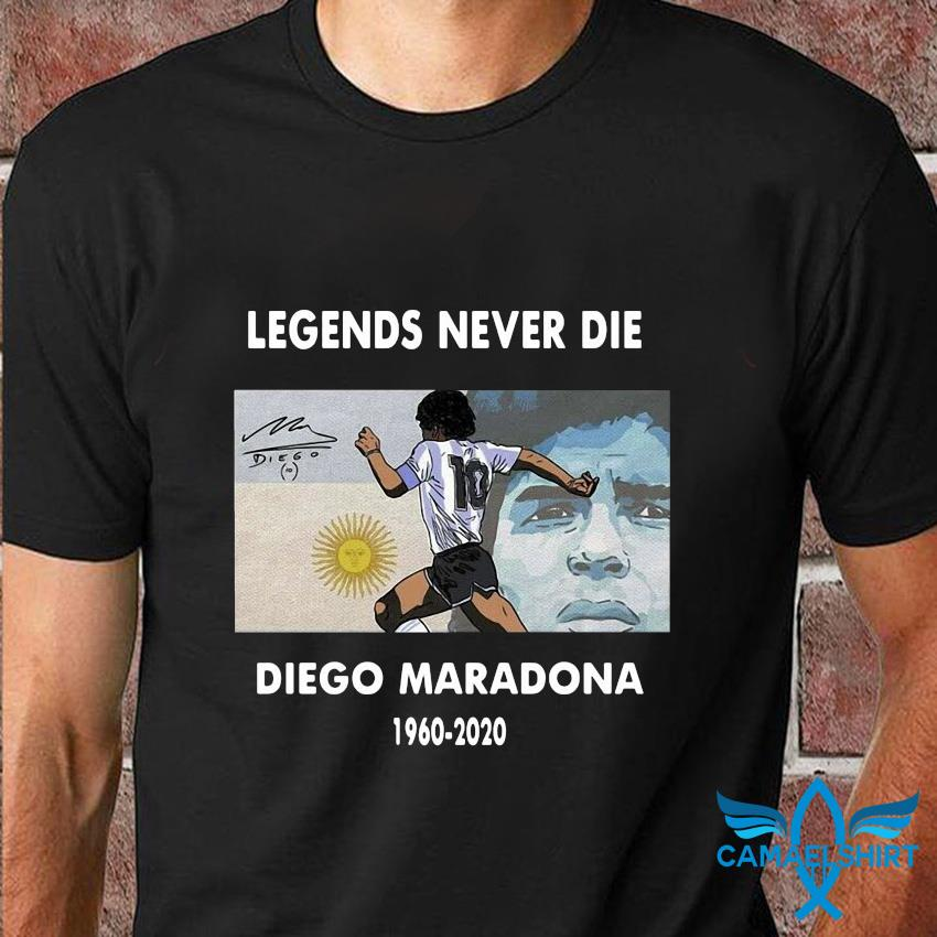 Legend Diego Maradona memories t-shirt