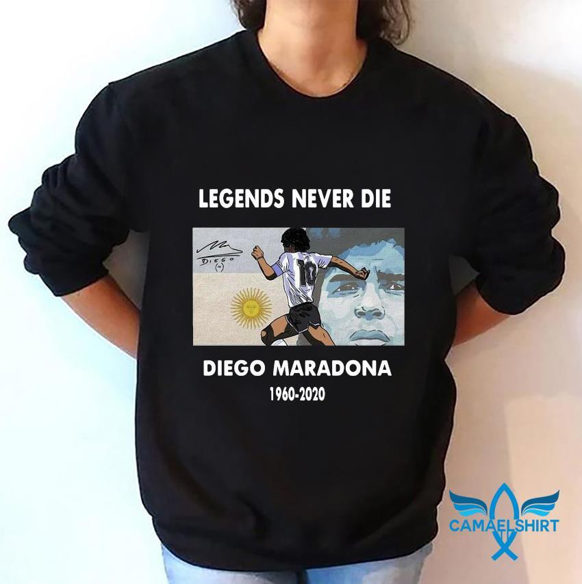 Legend Diego Maradona memories t-s sweatshirt