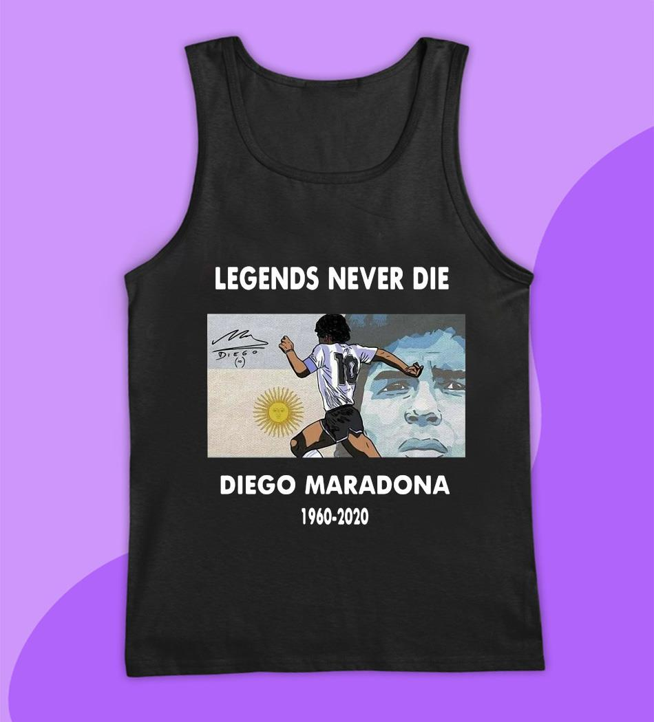Legend Diego Maradona memories t-s tank top