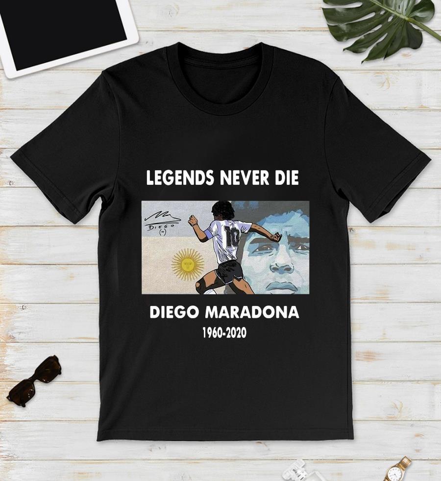 Legend Diego Maradona memories t-s unisex