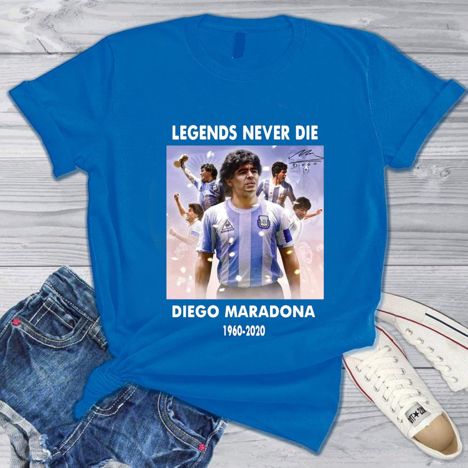 Legend never die Diego Maradona 1960-2020 s blue