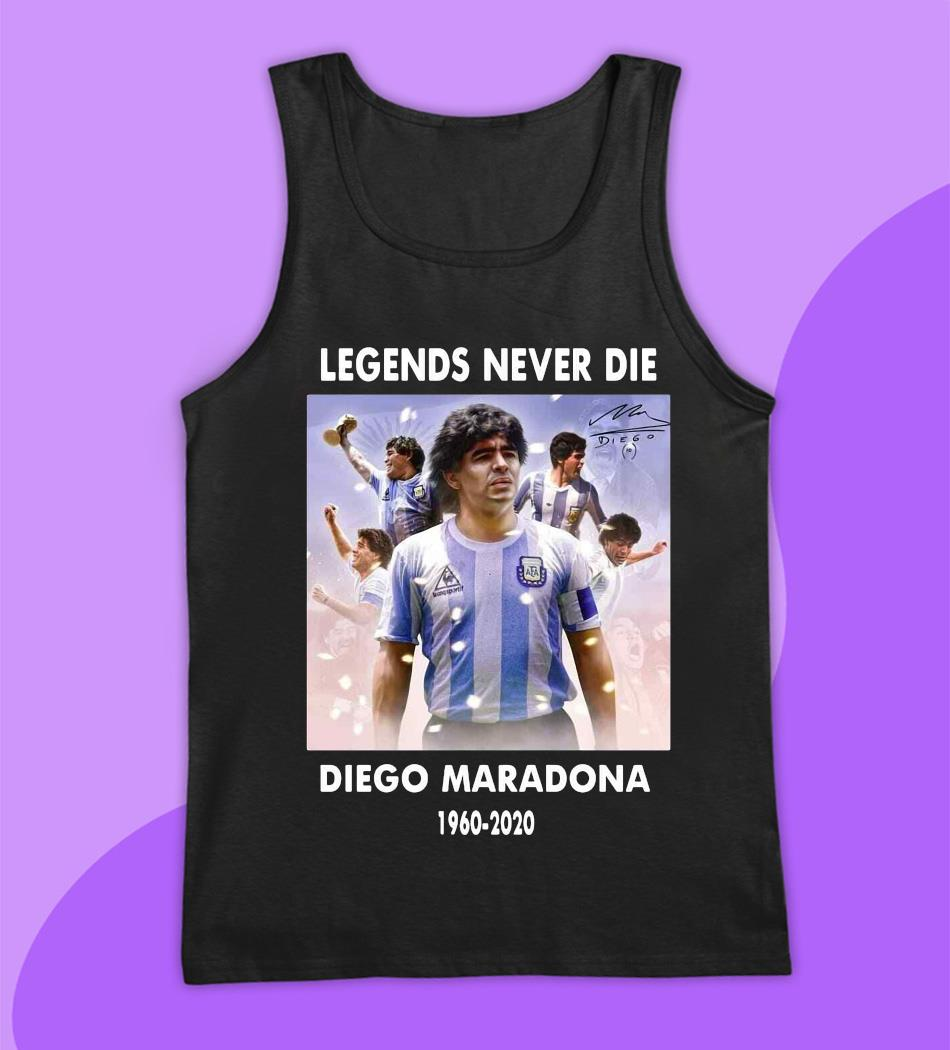 Legend never die Diego Maradona 1960-2020 s tank top