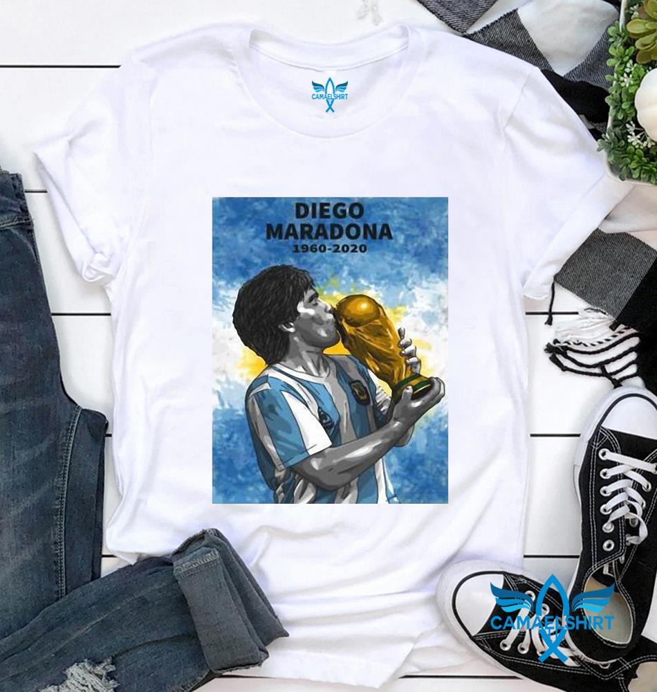 Maradona 1960-2020 fan lovers thank you for the memories t-shirt