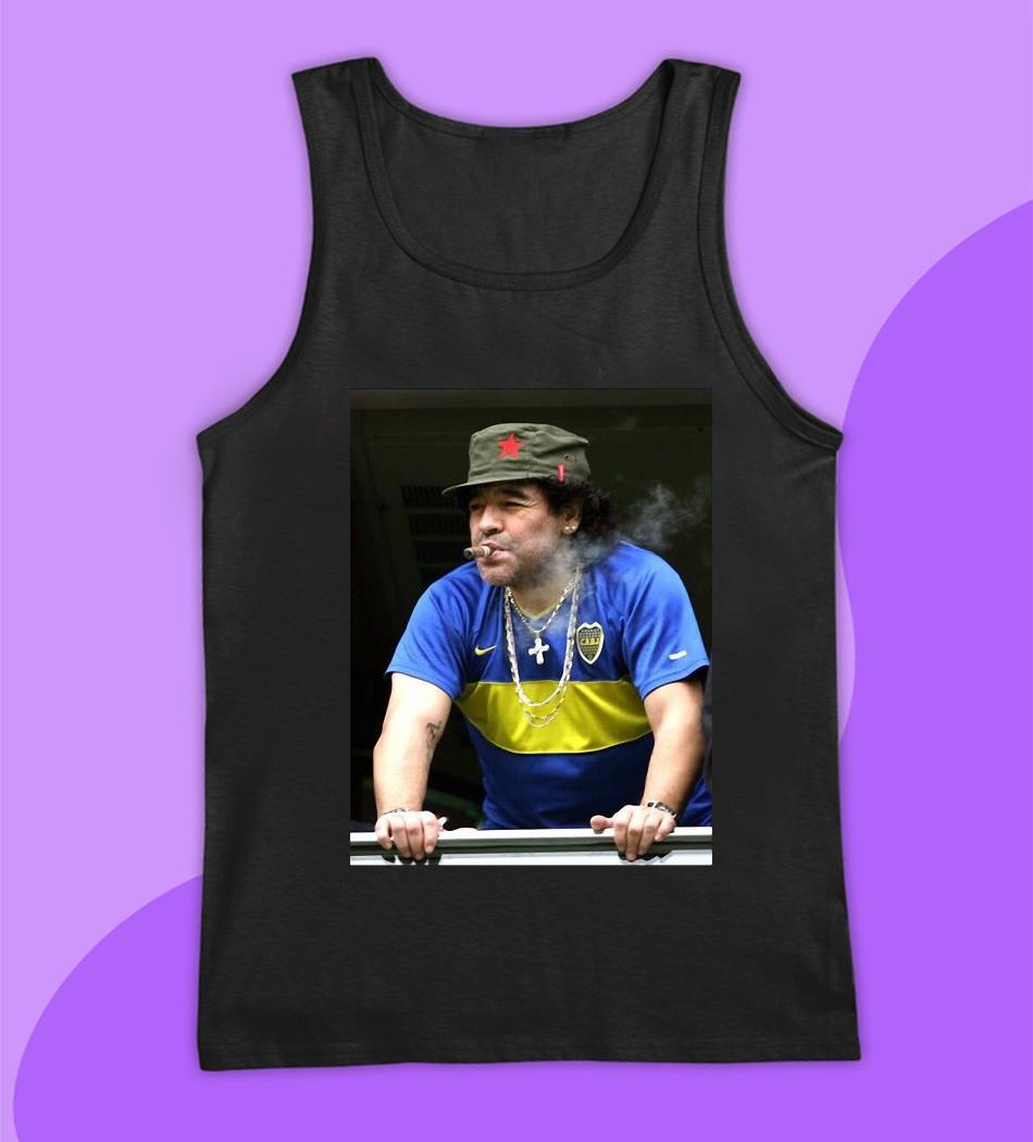 Maradona smoking football legend t-s tank top