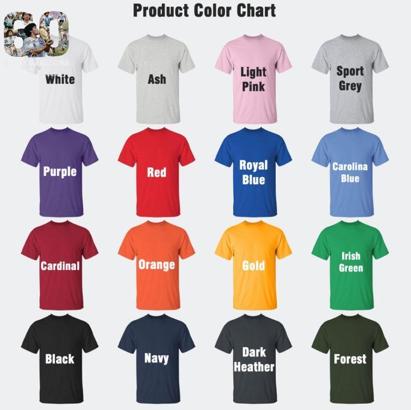 Mexico 1986 World Cup RIP Diego Maradona 1960 2020 t-s Camaelshirt Color chart