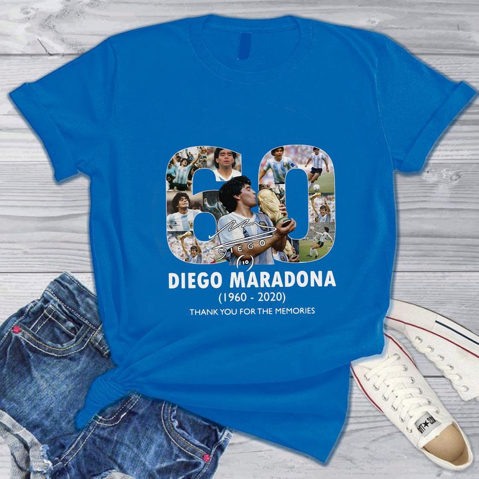 Mexico 1986 World Cup RIP Diego Maradona 1960 2020 t-s blue