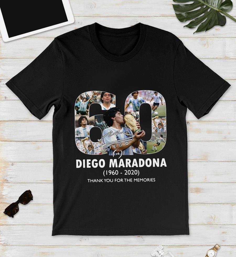 Mexico 1986 World Cup RIP Diego Maradona 1960 2020 t-s unisex