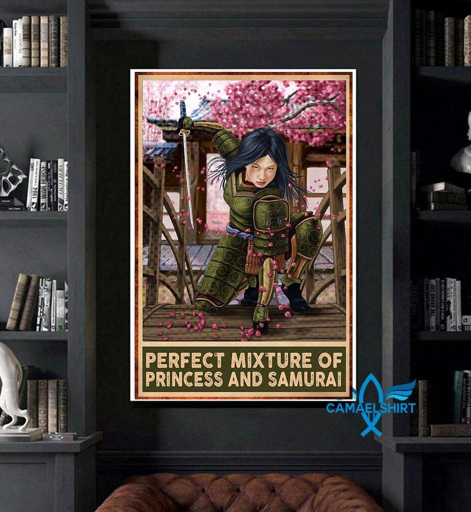 Perfect mixture of Princess and Samurai vertical poster art