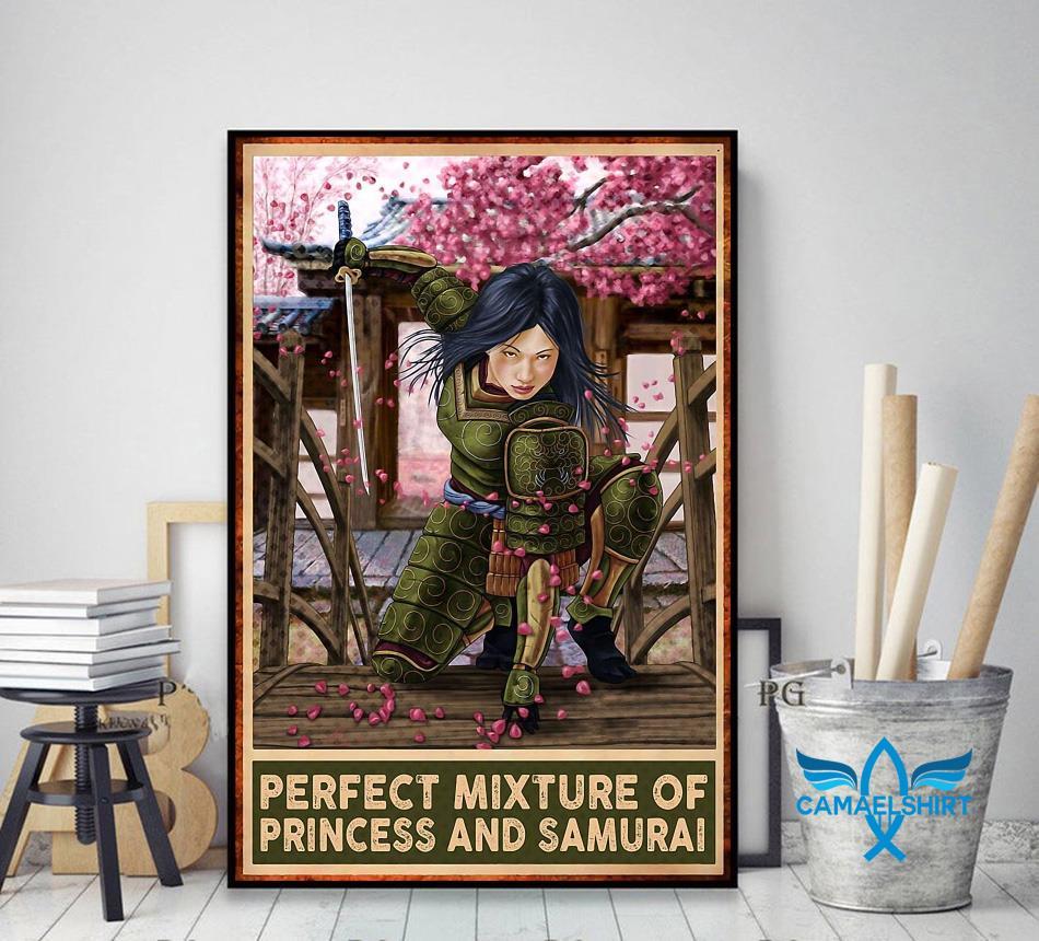 Perfect mixture of Princess and Samurai vertical poster decor art