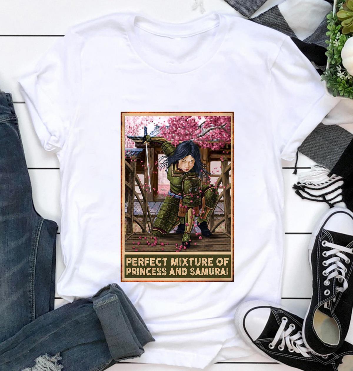 Perfect mixture of Princess and Samurai vertical poster t-shirt