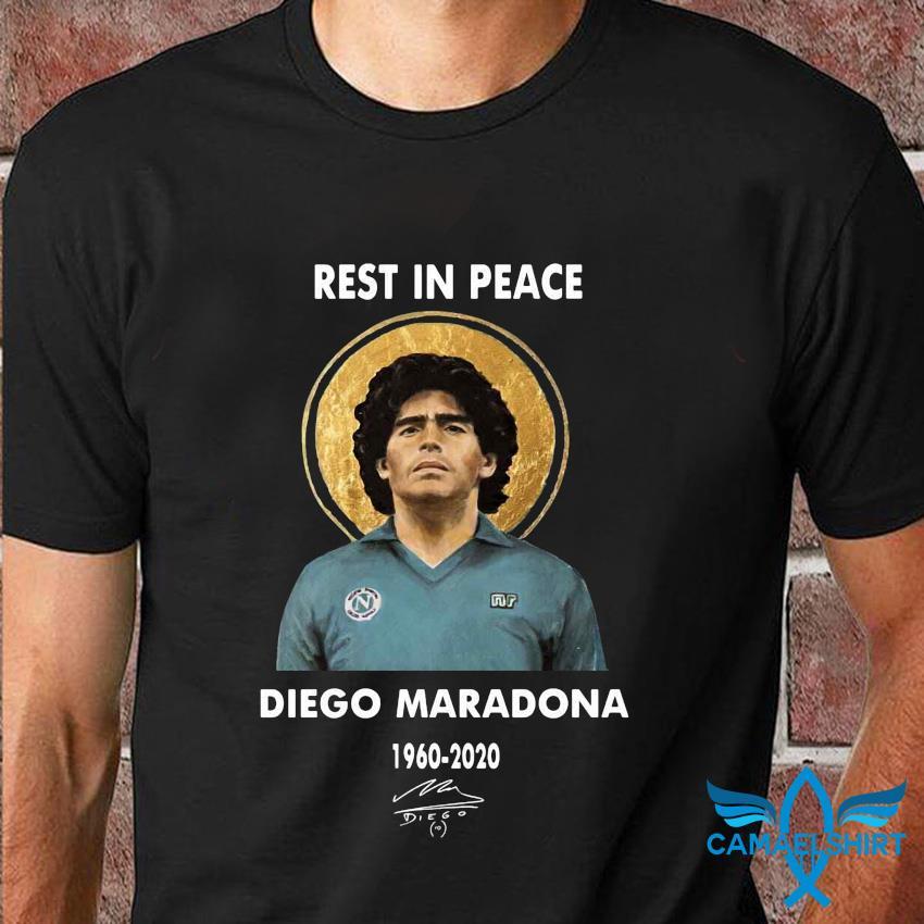 Rest In Peace 1960-2020 soccer legend Diego Maradona tribute shirt