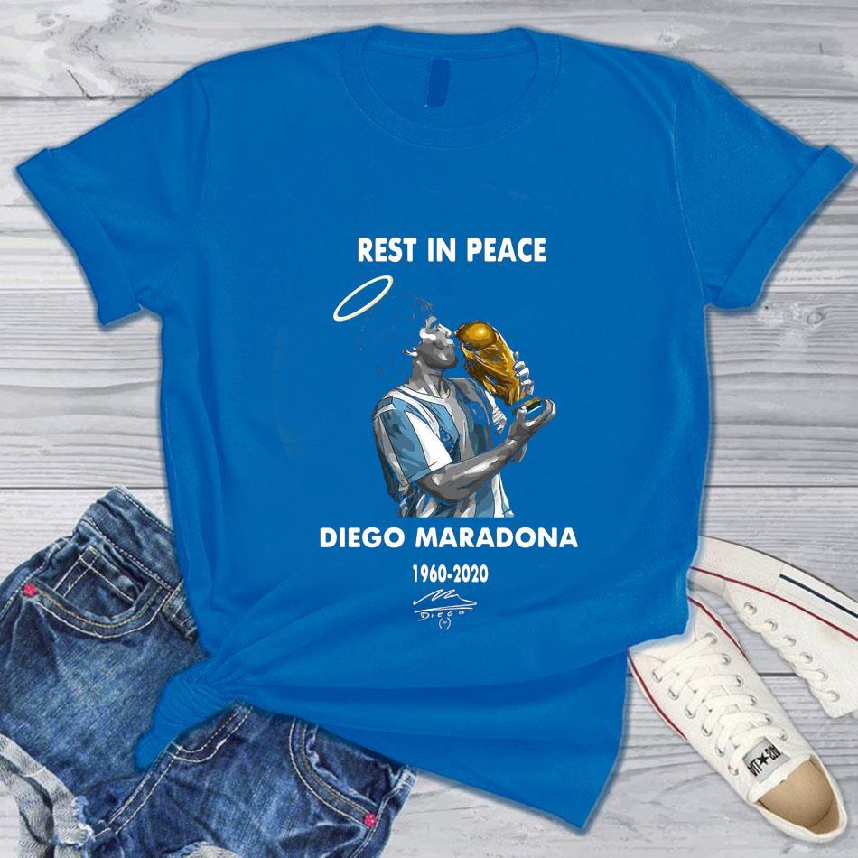 Rest in peace Diego Maradona legend t-s blue