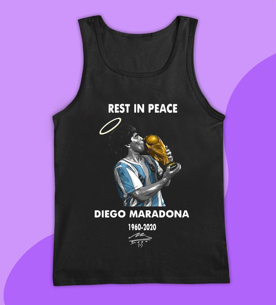 Rest in peace Diego Maradona legend t-s tank top