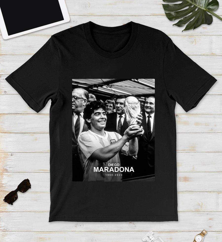 RIP 1960-2020 Diego Maradona Argentina football legend t-s unisex