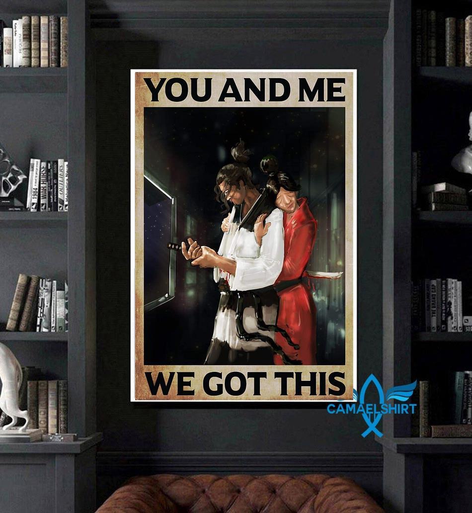 Samurai couple you and me we got this poster art