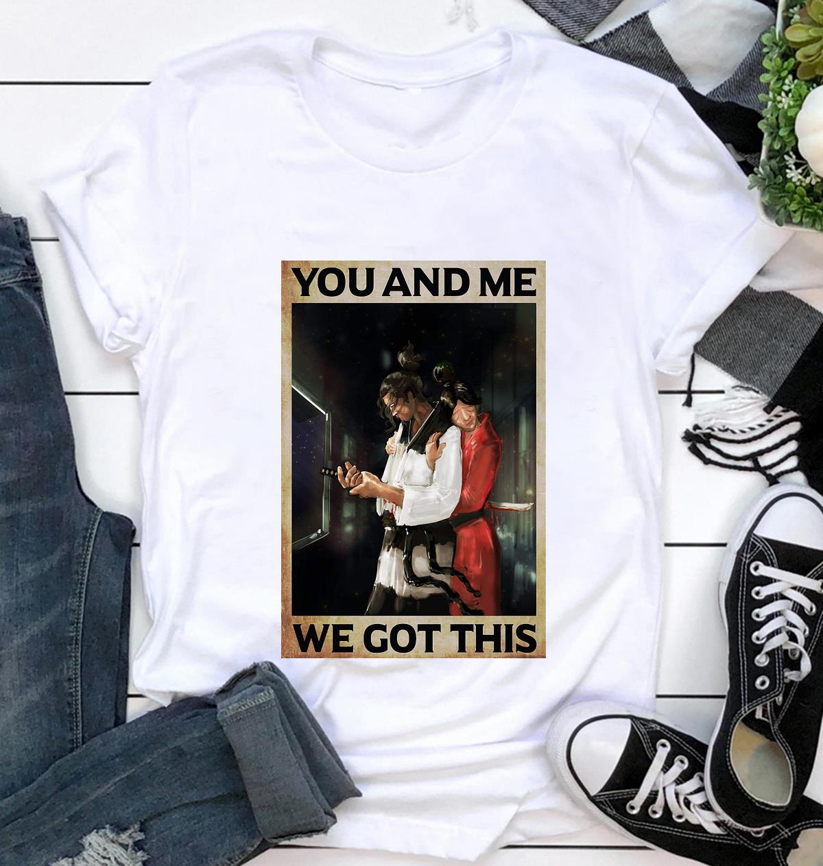 Samurai couple you and me we got this poster t-shirt