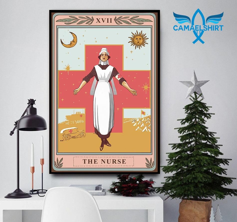 The nurse tarot card poster canvas