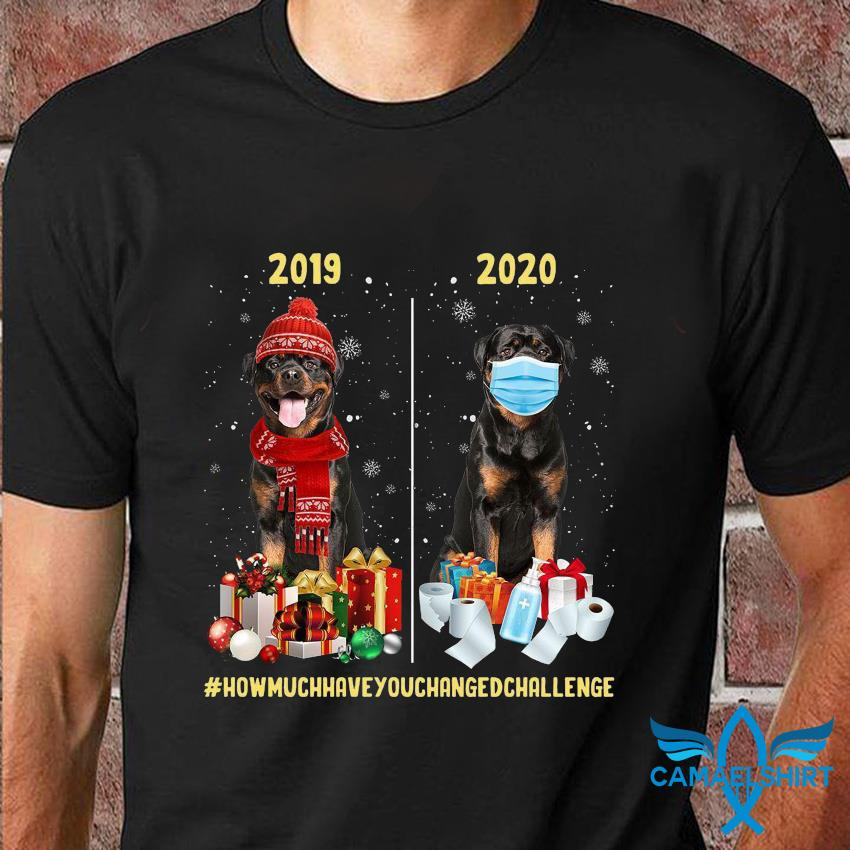 2019 2020 Christmas how much have you changed challenge t-shirt