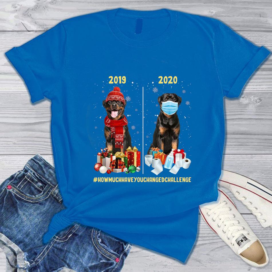 2019 2020 Christmas how much have you changed challenge t-s blue