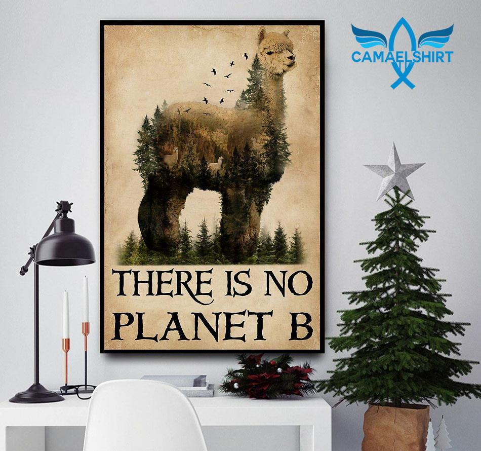 Alpaca nature there is no planet B poster canvas