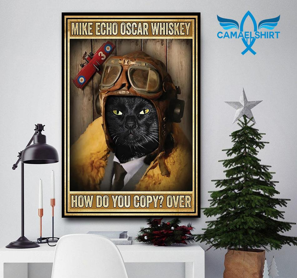 Black cat pilot mike echo oscar whiskey how do you copy poster canvas