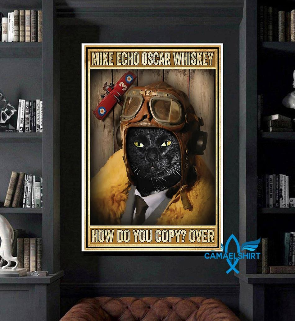 Black cat pilot mike echo oscar whiskey how do you copy poster canvas art