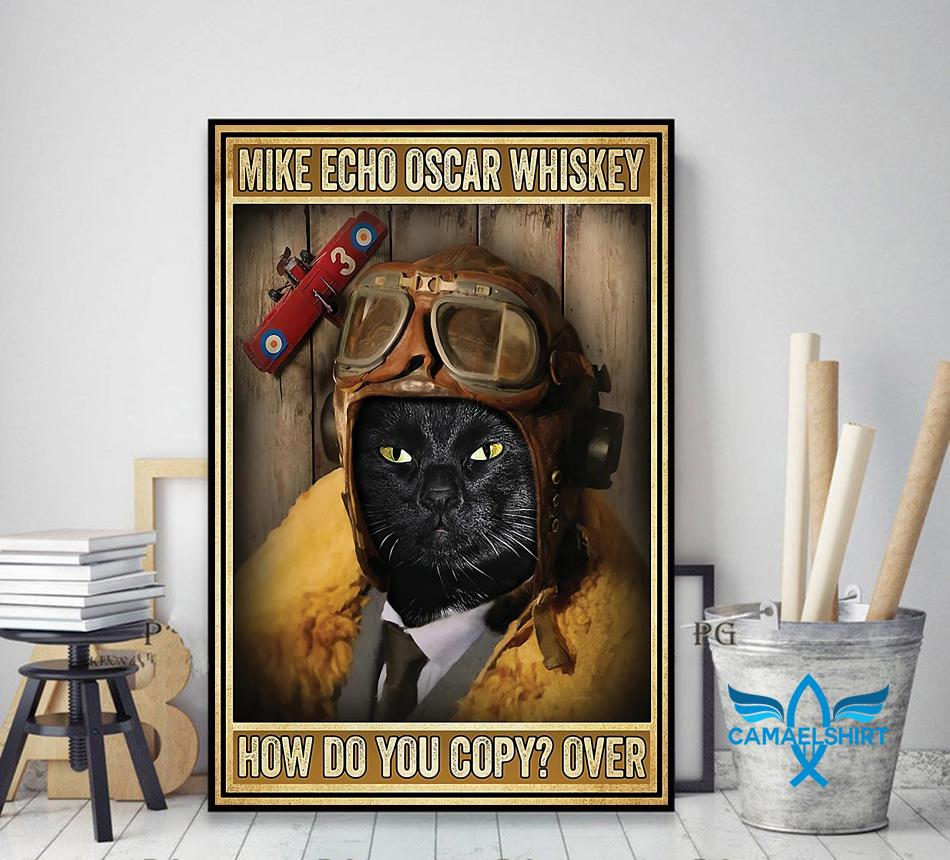 Black cat pilot mike echo oscar whiskey how do you copy poster canvas decor art