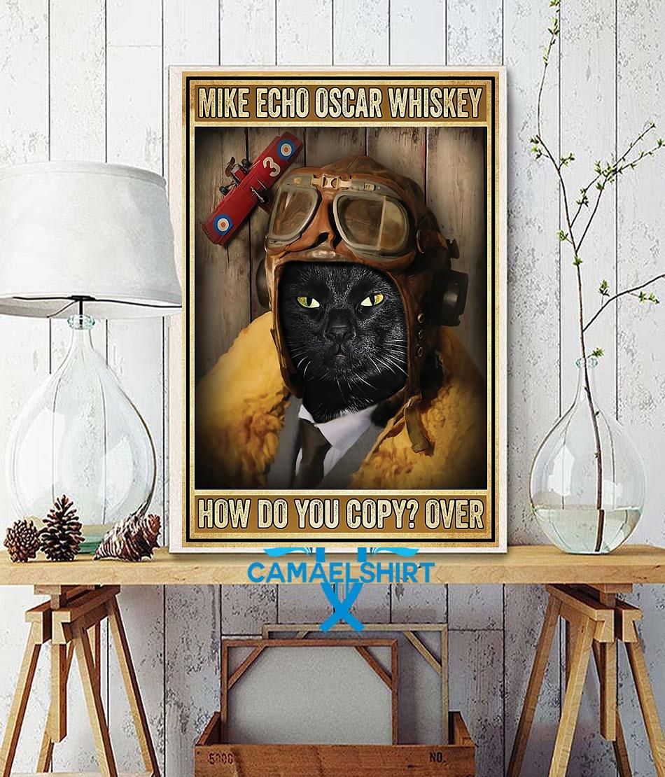 Black cat pilot mike echo oscar whiskey how do you copy poster canvas wall decor