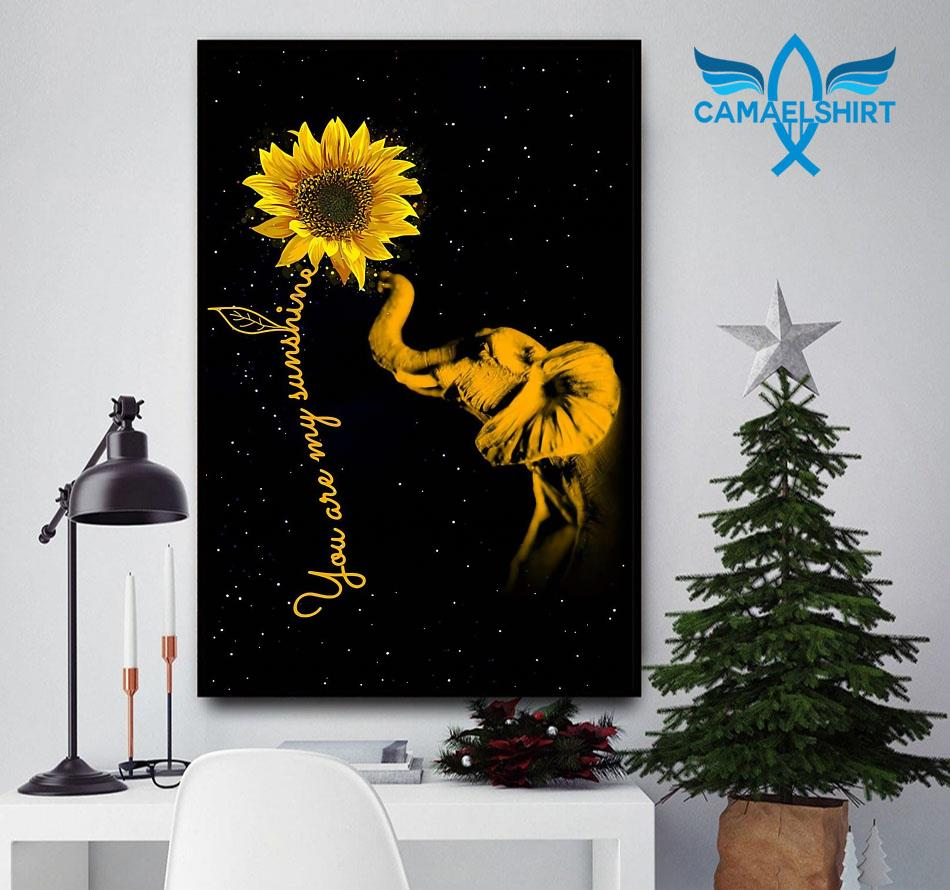 Elephant sunflower you are my sunshine sunshine canvas