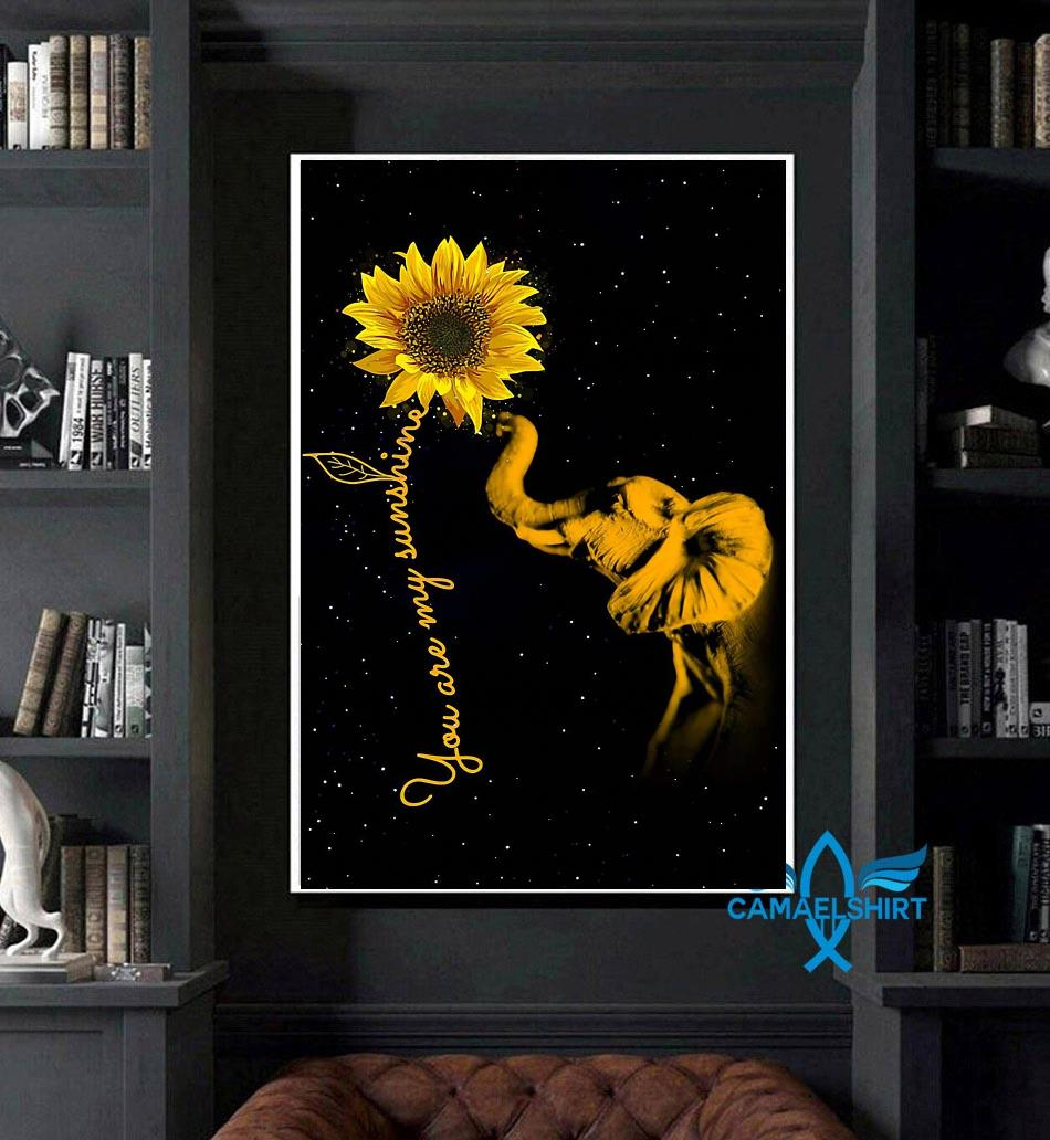 Elephant sunflower you are my sunshine sunshine canvas art