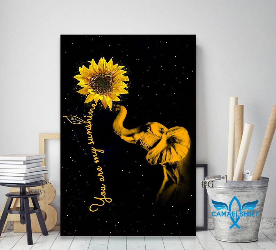 Elephant sunflower you are my sunshine sunshine canvas decor art