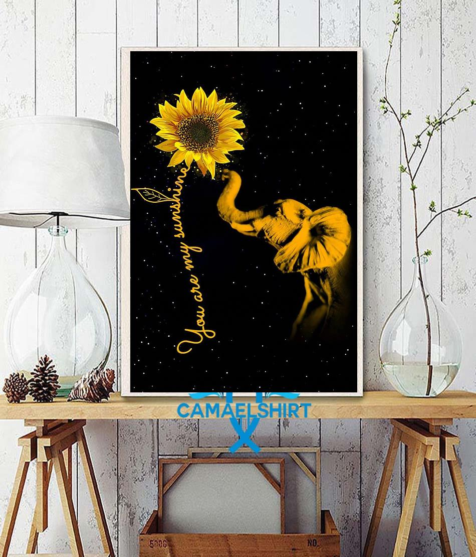 Elephant sunflower you are my sunshine sunshine canvas wall decor