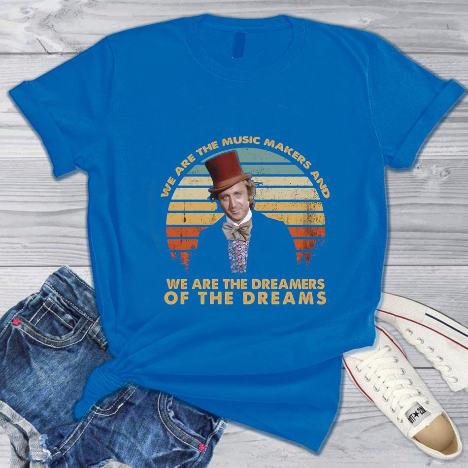 We are the music makers and we are the dreamers vintage t-s blue