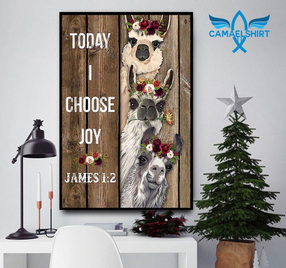 Alpaca flower today I choose joy poster