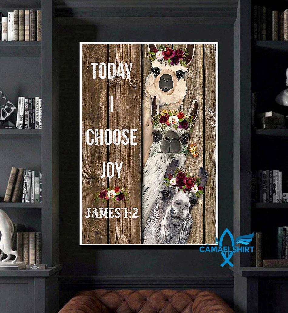 Alpaca flower today I choose joy poster art