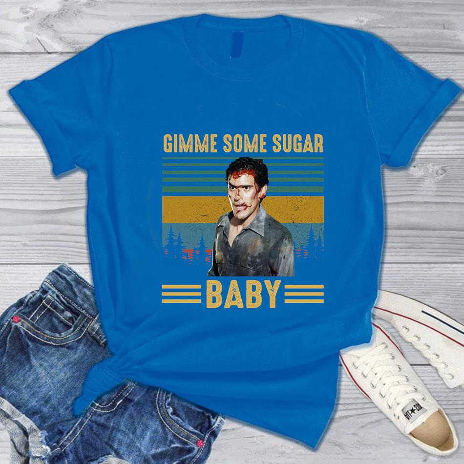 Ash Williams gimme some sugar baby vintage t-s blue