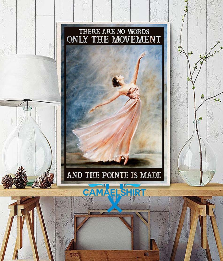 Ballet the movement of life poster wall decor