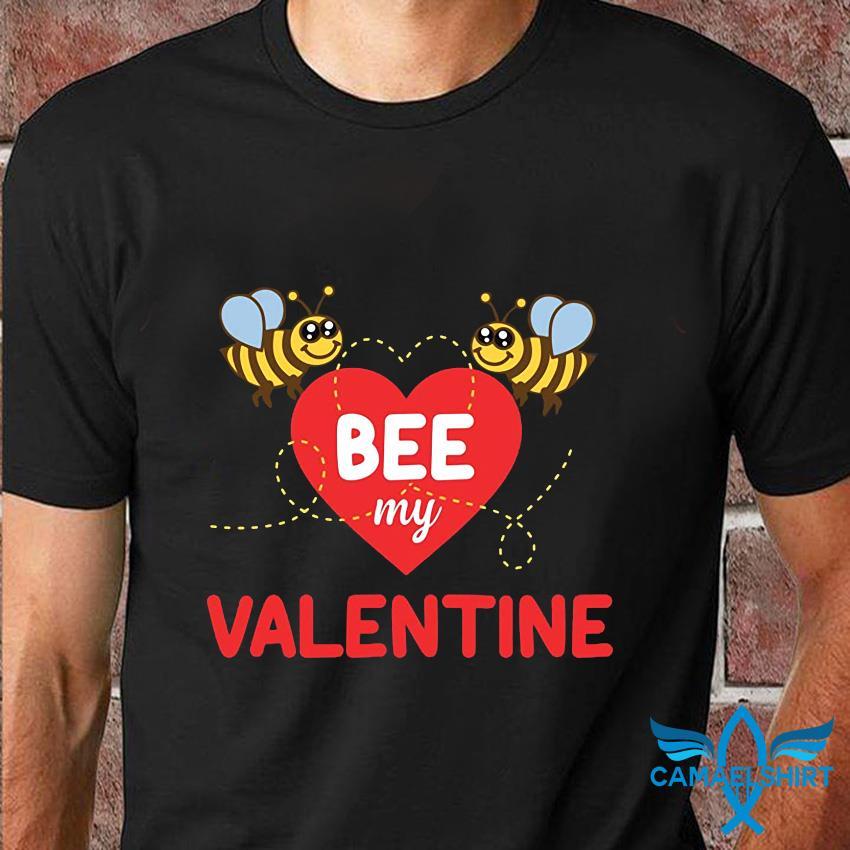Bee my valentine shirt valentines day beekeeper gift t-shirt