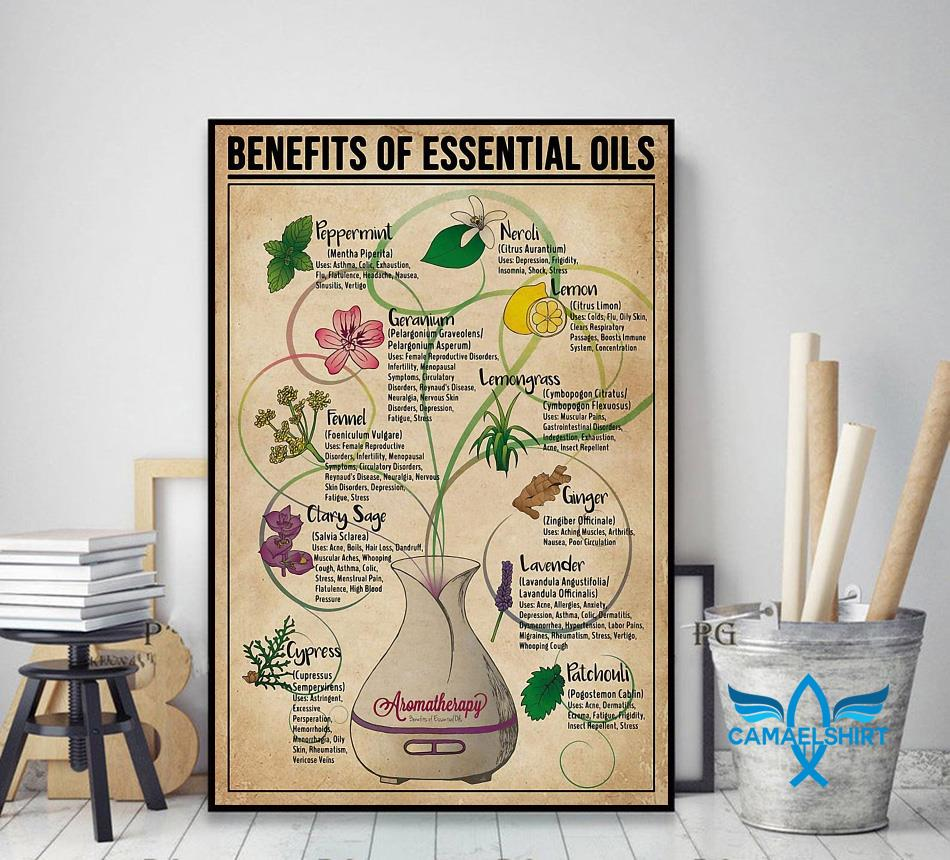 Benefits of Essential Oils poster decor art