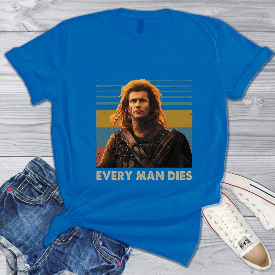 Braveheart every man dies vintage t-s blue
