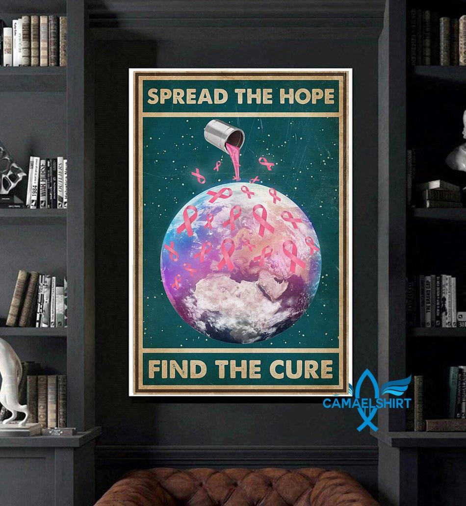 Breast Cancer spread the hope find the cure poster art