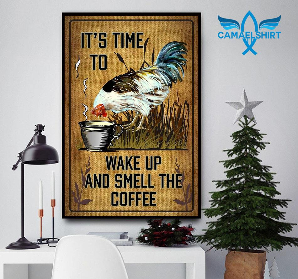 Chicken it's time to wake up and smell the coffee poster