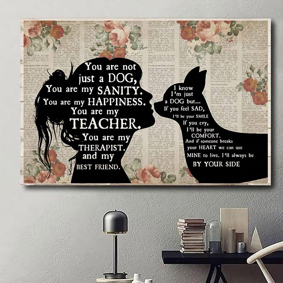 Chihuahua you are not just a dog you are my sanity happiness horizontal canvas