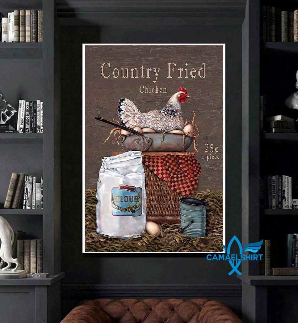 Country Fried Chicken vertical poster art