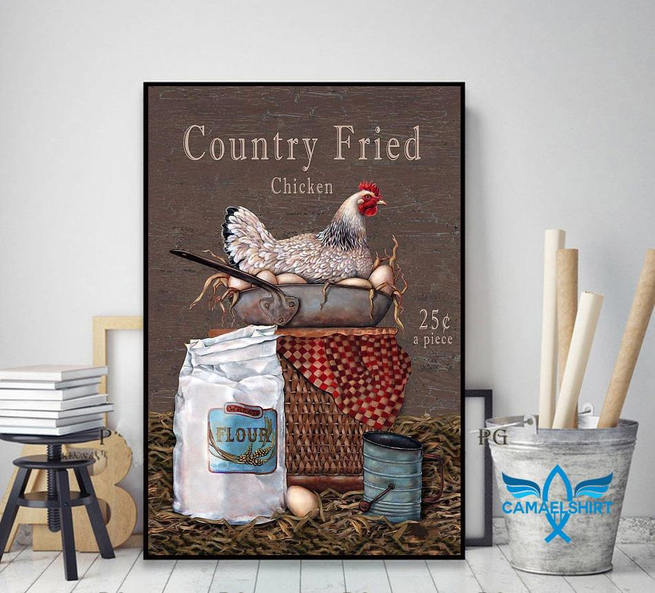 Country Fried Chicken vertical poster decor art