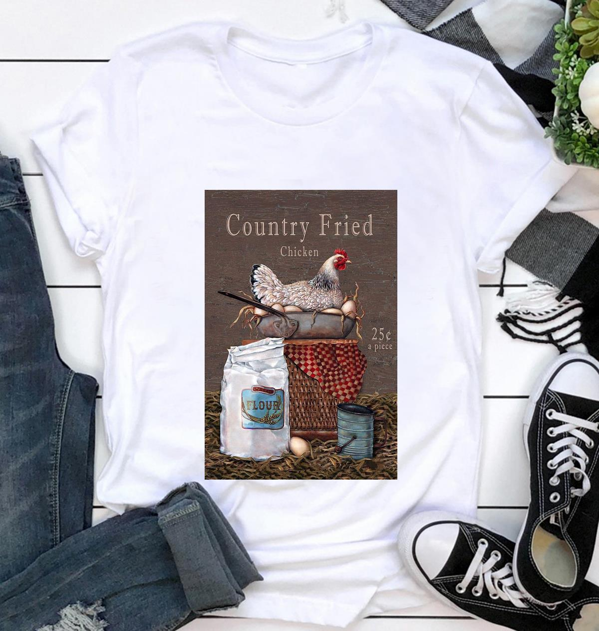 Country Fried Chicken vertical poster t-shirt